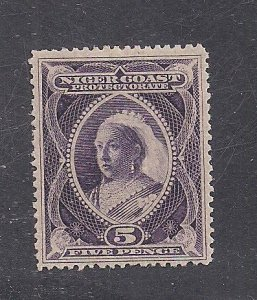 NIGER COAST PROT. SC# 47  PURPLE COLOR  FVF/MOG