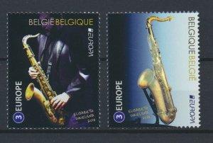 [BEL44] Belgium 2014 music good set of stamps very fine MNH