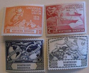 Northern Rhodesia Stamp 50-3 MNH UPU Topical Cat $5.00