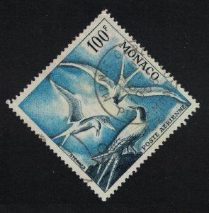 Monaco Roseate Tern Birds 100f T1 perf 13 1955 Canc SG#508 MI#502B