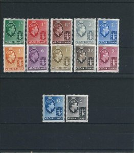 BRITISH VIRGIN IS 1938-47 SET OF 12 MNH/MM SG 110/121 CAT £75
