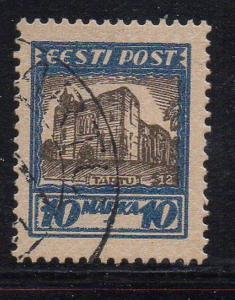 Estonia Sc B16 1927 Tartu Cathedral stamp used