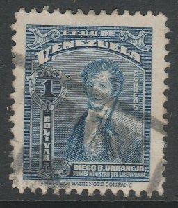 Venezuela 1947-48 1b used South America A4P53F48