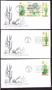 US 1981 20c 1942-45 Desert Plants Tucson First Day Covers w/ Inserts