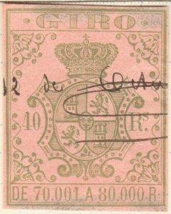 ESPAGNE / SPAIN / ESPAÑA 1861 Sello Fiscal (GIRO) 40 reales - Usado