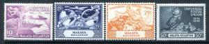 Malaya Kelantan 46-49, MNH, UPU-75 1949 Plane Ship Hemisphere Globe.