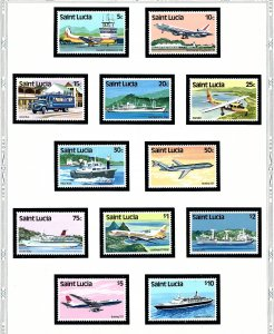 St Lucia 504-15 MNH 1980 Aircraft and Seacraft  (KA)