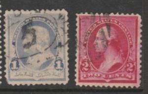 U.S. Scott #219-220c Franklin-Washington Stamp - Used Single