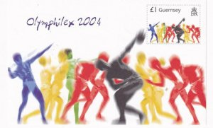 GUERNSEY # 848 VF-MNH OLYMPHILEX 2004 S/SHEET PO FRESH