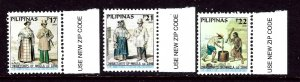 Philippines 2762-64 MNH 2001 Drawings of Manila Inhabitants    (ap3624)