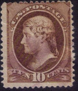 US Sc 209 Unused,Mint ,No Gum, Visible Crease Upper L.,F-VF