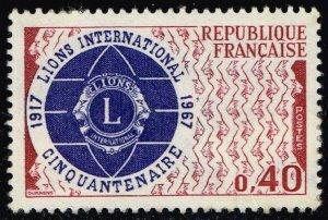 France #1196 Lions International; Unused (1Stars)