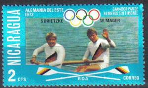NICARAGUA, 1976, MNH 2c, Olympic Games, Victors in Rowing and Sculling.