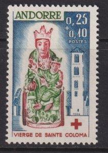 Sc# B1 French Andorra 1964 semi-postal Red Cross issue MLH CV $24.00