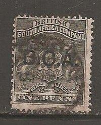 British Central Africa SC 1  Used