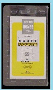 Scott Mounts Black 106/55, (pak 20ea)(00914B)