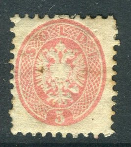 AUSTRIA; LOMBARDY VENETIA 1863-4 classic 'Arms' issue Mint hinged 5k. Perf 9.5