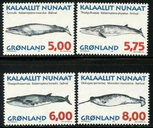 Greenland 1997 Whales set Sc# 319-22 NH