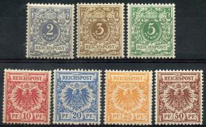 GERMANY DEUTSCHES REICH  SCOTT# 45/51,  MICHEL#45/50, 52  MINT NH