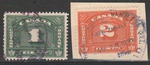 Canada BOB Customs stamps