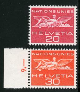 SWITZERLAND #7O24,7O25, UNUSED MINT HINGED SET OF 2 STAMPS - 1959 - SWIT093
