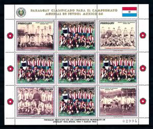 [72760] Paraguay 1986 World Cup Football Soccer Mexico Full Sheet MNH