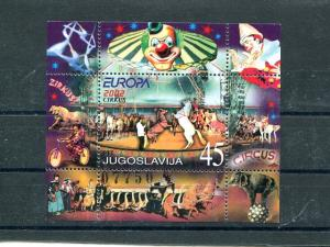 Yugoslavia 2002  Europa sheet Mint VF NH