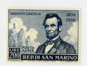 SAN MARINO C108 MH SCV $5.75 BIN $2.75 LINCOLN