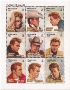 Montserrat - 1996 James Dean - Set of 2 Souvenir Sheets - 13B-005