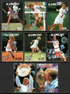 St. Vincent MNH 988-95 Wimbledon Tennis Championship SCV 5.00