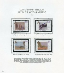 VATICAN CITY 2004  COMPLETE YEAR SET STAMPS WITH BOOKLET MINT NH ON  ALBUM PAGES