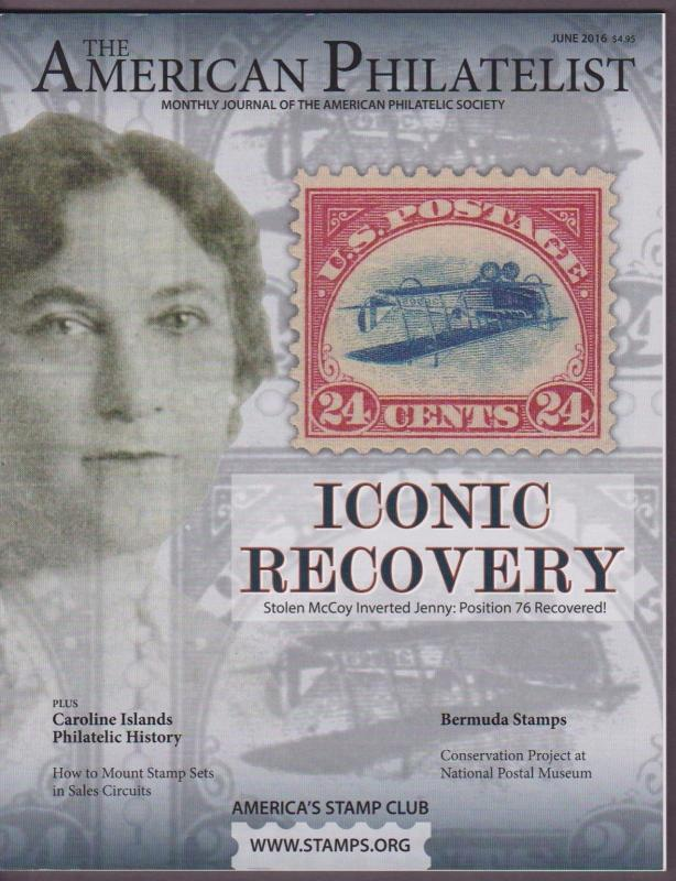 APS Magazine June 2016 , Iconic Recovery / Inverted Jenny 76 - I Combine S/H