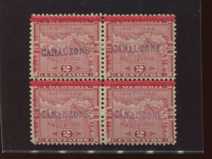 Canal Zone 1 Mint Block of 4 Stamps with PSE & PSAG Certs (CZ1-PSE1)