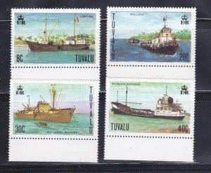 Tuvalu 77-80 Set MNH Ships (B)