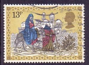 Great Britain 1979 used Christmas 13p Mary and Joseph travelling to Bethlehem  #