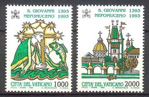 1993 - Vatican Sc# 934-935 - Mint VF/NH