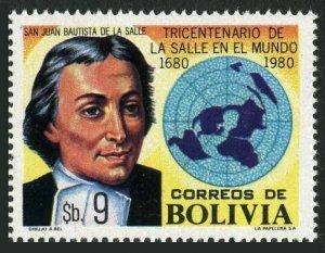 Bolivia 653,MNH.Michel 965. St Baptiste de la Salle,educator.1980.