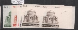Pakistan SG 475a-80a Mosque Imperf Pairs MNH (10dkv)