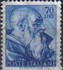 ITALY, 1961, used 70L,  Michelangiolesca