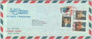 84288 -  HONDURAS  -  POSTAL HISTORY -  Airmail COVER to ITALY 1987 - FLAGS