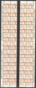 Canada #586, 588. 590, 591, 593 - XF NH All Precancel Left and Right BLock of 20