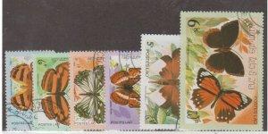 Laos Scott #386-391 Stamp - Used Set