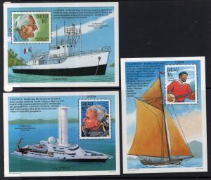 Palau 437-439 Souvenir Sheets MNH VF