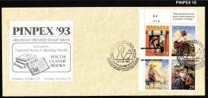 1993 Youth Classic Books Sc 2788a FDC unofficial PINPEX pictorial cancel