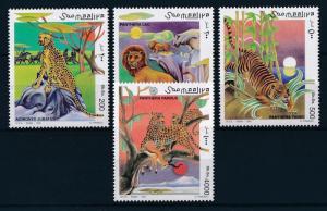 [27853] Somalia 1998 Wild Animals Mammals Leopard Lion Tiger MNH
