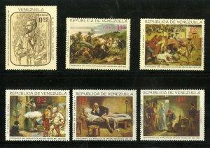 VENEZUELA 899-901,C927-9 MNH SCV $7.05 BIN $3.75 ART
