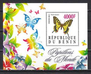 Benin, 2015 Cinderella issue. Butterfly s/sheet.