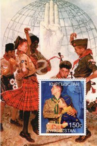 Kyrgyzstan 2000 SCOUTS DANCING s/s Perforated Mint (NH)