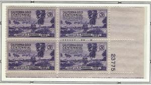 United States  Plate  Block of 4  mnh SC  954