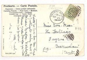 AN106 GB WALES Cover 1908 GB Cardigan *Ystrad Meurig* Postcard *F33*4VOS Numeral